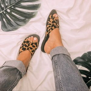 Shoes - Meow | Leopard Sandals Slides